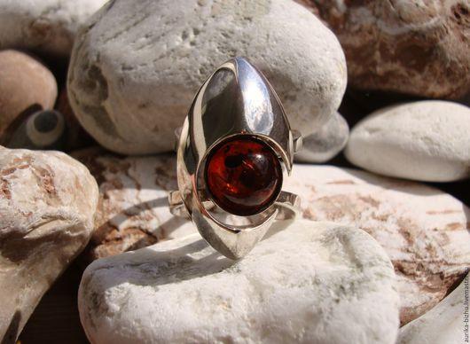 """Кольца ручной работы. Ярмарка Мастеров - ручная работа. Купить Кольцо """"Галактика AMBER"""". Handmade. Кольцо с камнем, серебряное кольцо"""