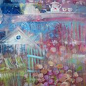"""Картины и панно ручной работы. Ярмарка Мастеров - ручная работа Коттедж """"Пионовый"""" Peony cottage. Handmade."""