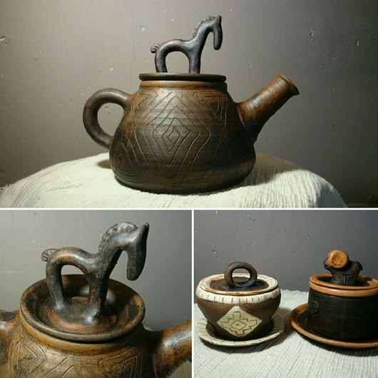 Чайники, кофейники ручной работы. Ярмарка Мастеров - ручная работа. Купить Чайник керамический ручной работы. Handmade. Коричневый, кофе