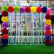 Свадебный салон ручной работы. Ярмарка Мастеров - ручная работа Прес-волл с лентами и помпонами(аренда). Handmade.