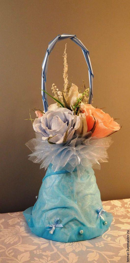 Подарок девочке. Букет из конфет, сумочка для принцессы. Подарок. Купить.