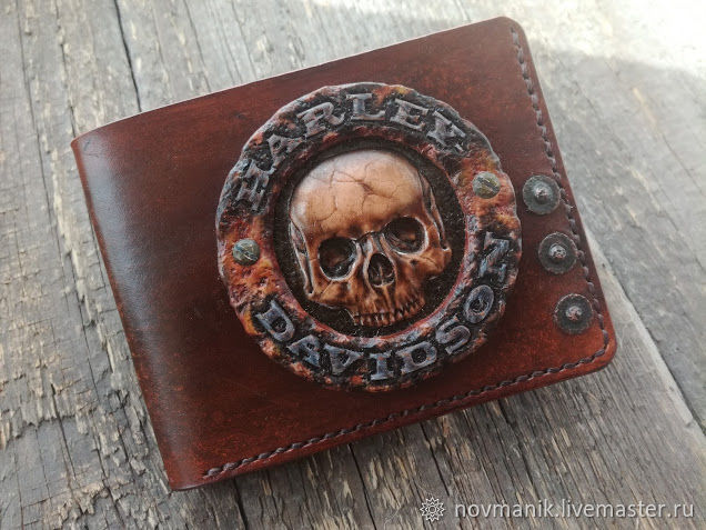 Портмоне (кошелек, бумажник) двойного сложения (Bi-fold wallet) № 44, Кошельки, Ковров,  Фото №1