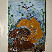 """Для дома и интерьера ручной работы. Ярмарка Мастеров - ручная работа Настенные часы """"золотые рыбки"""". Handmade."""