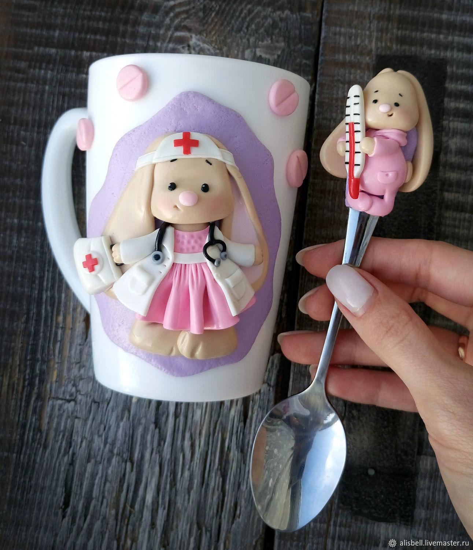A gift for a physician, doctor, pediatrician (mug, spoon), Mugs, Barnaul,  Фото №1