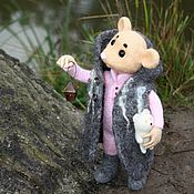 Куклы и игрушки ручной работы. Ярмарка Мастеров - ручная работа Следопыт, мышонок войлочный. Handmade.