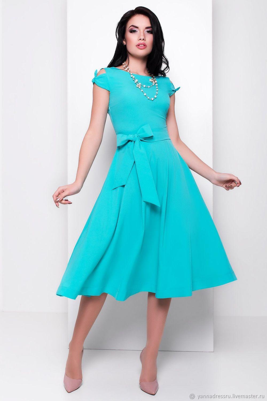 6b97dbe56a9 Купить Платье с изюминкой миди длины Платья ручной работы. Платье с  изюминкой миди длины