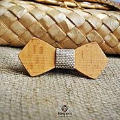 Аксессуары handmade. Livemaster - original item Wooden butterfly tie Furor beech / with a shiny baffle. Handmade.