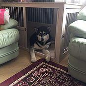 Для домашних животных, ручной работы. Ярмарка Мастеров - ручная работа Деревянная клетка для большой собаки в квартиру. Handmade.