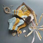 Одежда детская handmade. Livemaster - original item Socks for kids knitted wool (Merino Laika). Handmade.