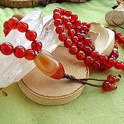 Фен-шуй и эзотерика handmade. Livemaster - original item Mala 108 grains with carnelian. Handmade.