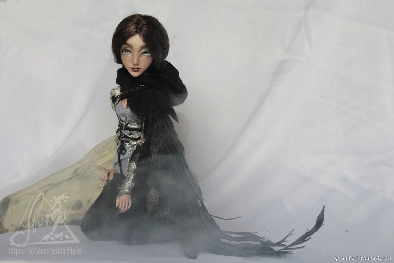 Урания. Говорящая-с-воронами. Шарнирная кукла (BJD)Авторская кукла бжд, Шарнирная кукла, Москва,  Фото №1