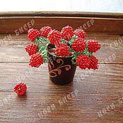 Цветы и флористика ручной работы. Ярмарка Мастеров - ручная работа Кустик малины из бисера. Handmade.
