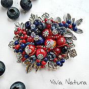 """Украшения handmade. Livemaster - original item Brooch """"Blueberry and red bilberry"""". Handmade."""