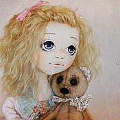 Куклы и игрушки ручной работы. Ярмарка Мастеров - ручная работа Милана и медвежонок. Handmade.