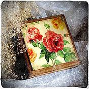 """Для дома и интерьера ручной работы. Ярмарка Мастеров - ручная работа Шкатулка """"Красная роза"""". Handmade."""