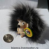 """Куклы и игрушки ручной работы. Ярмарка Мастеров - ручная работа фигурка """"Ёжик"""". Handmade."""