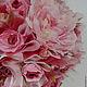 Интересное, с глубоким цветом, высокое с пышной кроной деревце, в работе использованы органза флористическая, розы пионовидные, пионы, мелкие розочки различных оттенков, лютики, мелкоцвет, зелень, в к
