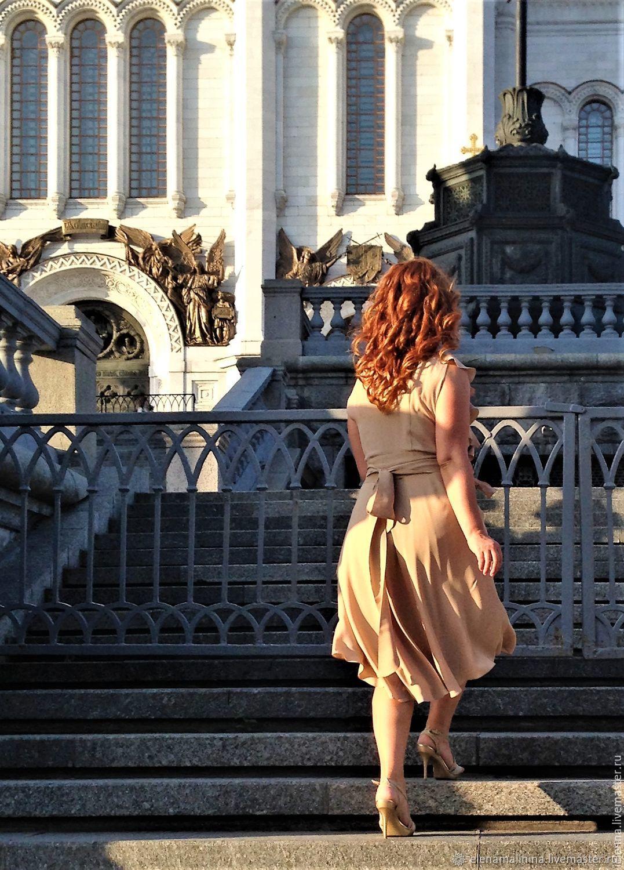 Платья ручной работы. Ярмарка Мастеров - ручная работа. Купить Летящий водопад. Handmade. Лето, платье, мода, стиль, движение