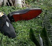 """Обувь ручной работы. Ярмарка Мастеров - ручная работа Мужская обувь""""Чёрный """"Жемчуг"""". Handmade."""