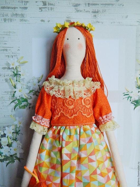 Куклы Тильды ручной работы. Ярмарка Мастеров - ручная работа. Купить кукла Каролина. Handmade. Рыжий, кукла, куклы и игрушки