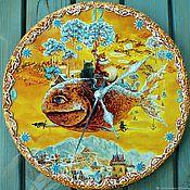 """Для дома и интерьера handmade. Livemaster - original item """"Веселые котэ"""" Часы настенные,для дома и интерьера,подарок. Handmade."""