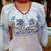 Русский стиль ручной работы. Ярмарка Мастеров - ручная работа блуза с вышивкой обережной. Handmade.