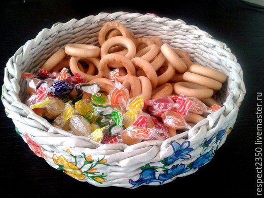 Кухня ручной работы. Ярмарка Мастеров - ручная работа. Купить Тарелка под печенье или фрукты. Handmade. Плетение из бумаги