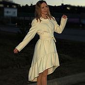 """Одежда ручной работы. Ярмарка Мастеров - ручная работа Пальто """"Нежность """" молочного цвета. Handmade."""