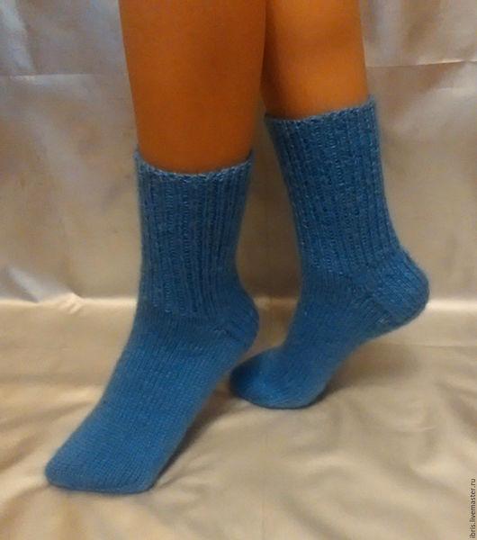 Носки, Чулки ручной работы. Ярмарка Мастеров - ручная работа. Купить Носочки классические. Handmade. Синий, носки, носки вязаные