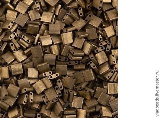 Для украшений ручной работы. Ярмарка Мастеров - ручная работа. Купить Бисер Tila 2006 (Matte Metallic Gold). Handmade.