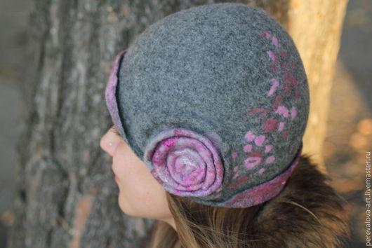 Шляпы ручной работы. Ярмарка Мастеров - ручная работа. Купить Шапочка - шляпка Улитка. Handmade. Серый, шляпка женская