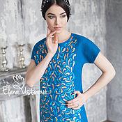 """Одежда handmade. Livemaster - original item Валяное платье """"Бирюзана"""". Handmade."""