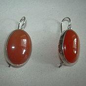 Украшения handmade. Livemaster - original item Elegant earrings CARNELIAN,silver 925.. Handmade.