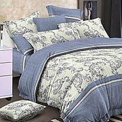 Для дома и интерьера handmade. Livemaster - original item Bed linen Gzhel. Handmade.
