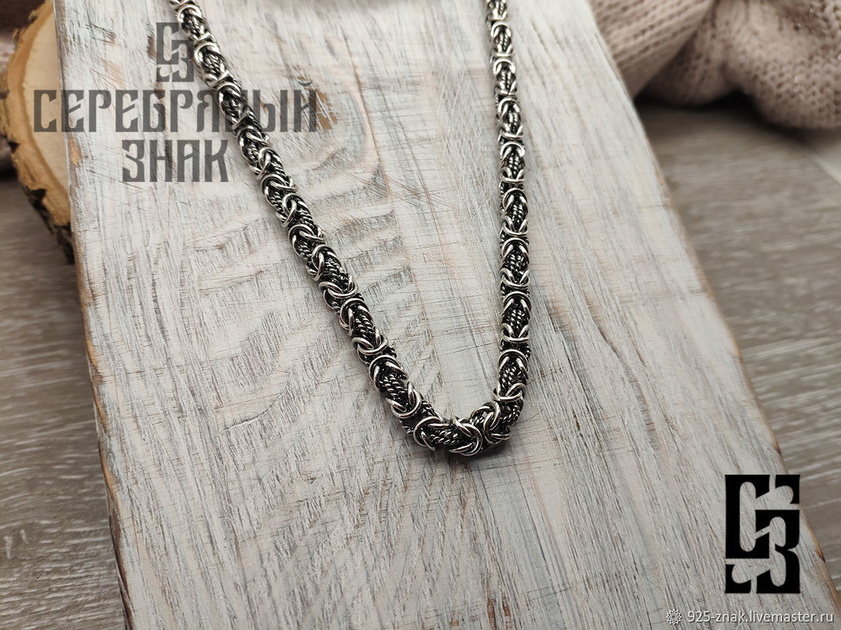 chain cardinal. 925 sterling silver and Black. Weight 62gr. art. .1096200, Chain, St. Petersburg,  Фото №1