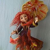 """Куклы и игрушки ручной работы. Ярмарка Мастеров - ручная работа Авторская кукла  """"Осень- рыжая подружка"""".. Handmade."""