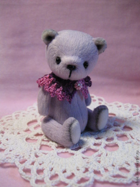 Мишки Тедди ручной работы. Ярмарка Мастеров - ручная работа. Купить Мишка.. Handmade. Бледно-сиреневый, миниатюра