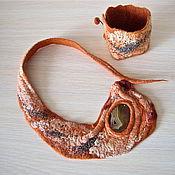 Украшения ручной работы. Ярмарка Мастеров - ручная работа Валяное колье и браслет. Handmade.
