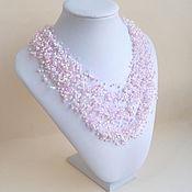Украшения ручной работы. Ярмарка Мастеров - ручная работа Колье-воздушка нежно-розовое с жемчугом. Handmade.