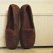 """Обувь ручной работы. Ярмарка Мастеров - ручная работа """"Truffle"""" туфельки балетки валяные. Handmade."""