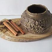 Для дома и интерьера ручной работы. Ярмарка Мастеров - ручная работа Подсвечник на спиле дерева. Handmade.