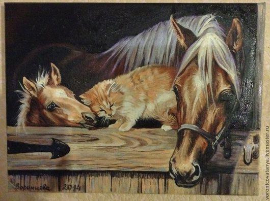 """Животные ручной работы. Ярмарка Мастеров - ручная работа. Купить """"Чувства"""".. Handmade. Коричневый, подарок девушке, лошади"""
