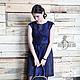 Платья ручной работы. Валяное платье «Синяя птица». Irina Demchenko. Ярмарка Мастеров. Коктейльное платье, войлочное платье