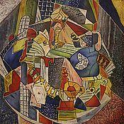 """Картины и панно ручной работы. Ярмарка Мастеров - ручная работа батик """" Игры разума"""". Handmade."""