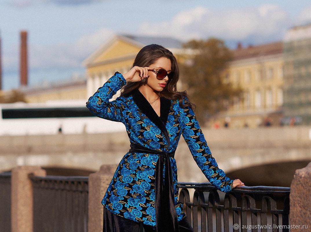 Жакет - вышивка на бархате, Пиджаки, Санкт-Петербург, Фото №1