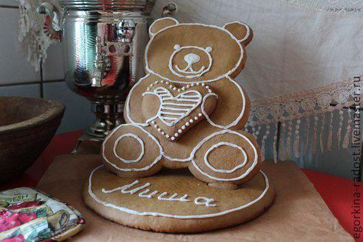 Кулинарные сувениры ручной работы. Ярмарка Мастеров - ручная работа. Купить Миша. Handmade. Пряник, козуля, медведь, миша, мишка