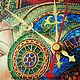 "Часы для дома ручной работы. Часы ""Орнаментальная леди"". Оксана Хижа  'Изысканные фантазии'. Ярмарка Мастеров. Контуры"