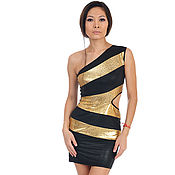 Одежда handmade. Livemaster - original item Copy from Club Knitted dress one shoulder. Handmade.