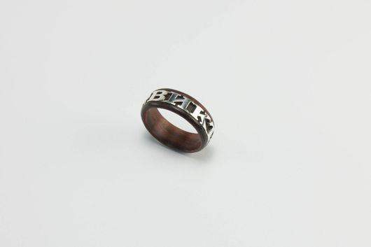 """Кольца ручной работы. Ярмарка Мастеров - ручная работа. Купить кольцо """"Любимое имя"""". Handmade. Коричневый, черное дерево"""