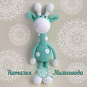 Куклы и игрушки ручной работы. Ярмарка Мастеров - ручная работа Мятный жирафик. Handmade.